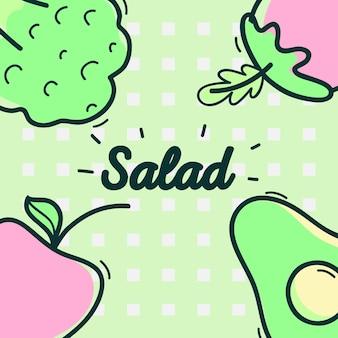 Вкусный салат с овощами и свежими фруктами