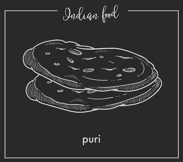 Delicious soft hot puri loaves
