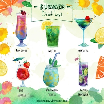 Delicious summer drink list