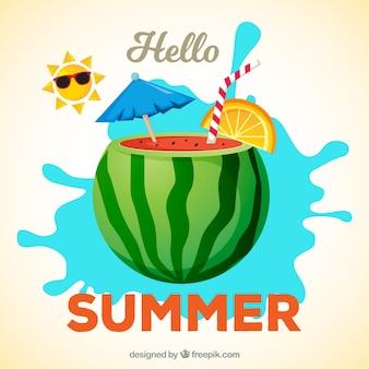 おいしい夏の果物の背景