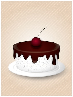 Delicious sweet cake illustrations