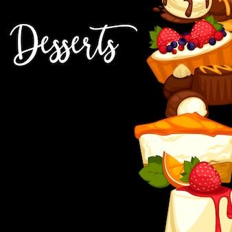 Delicious sweet dessert frame