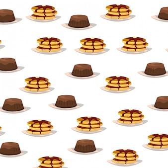 Delicious tasty breakfast pattern