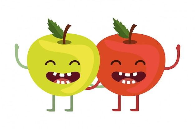 Delicious tasty fruits cartoon