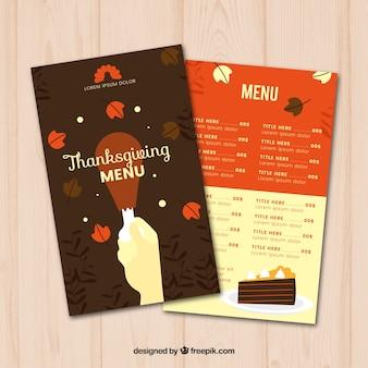 Delicious thanksgiving dinner menu