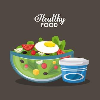 Delicious vegetables salad heatlhy food