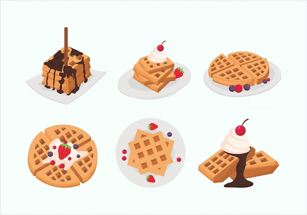 Delicious waffle collection