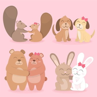 Delightful valentine's day animal couple