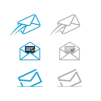 Delivered mail icons set