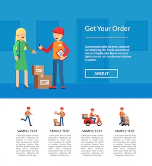 Delivery banner for landing page template