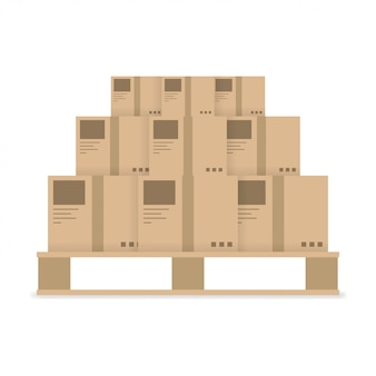 Delivery box shipping icon on white