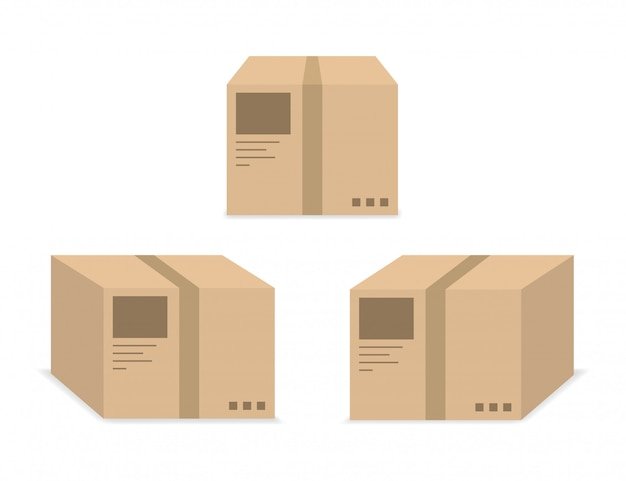 Delivery box shipping icon  .