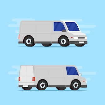 Delivery car in different angles