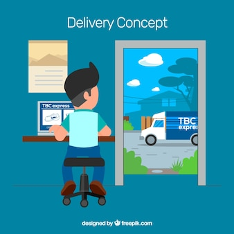 Delivery composition with flat design
