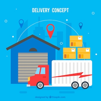 Delivery concept background