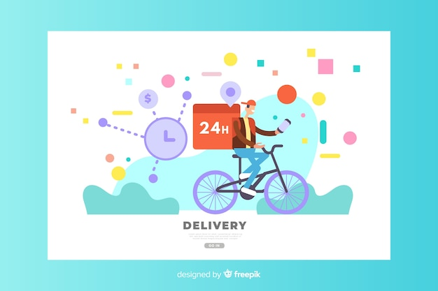 Delivery concept for landing page