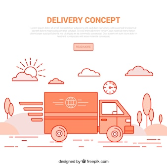 Delivery concept with modern style