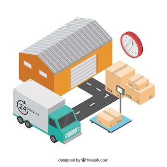 Концепция доставки с складом