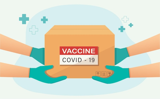 Delivery of covid19 vaccines concept