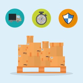 Delivery design illustration