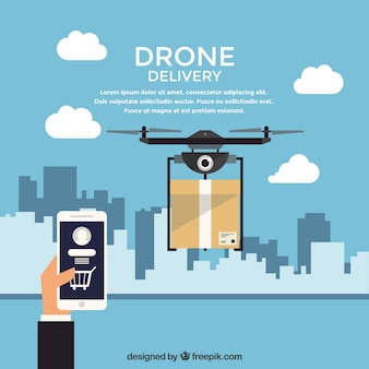 Delivery drone with modern style