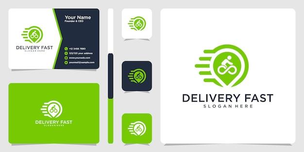 배달 빠른 로고 및 명함 디자인 서식 파일