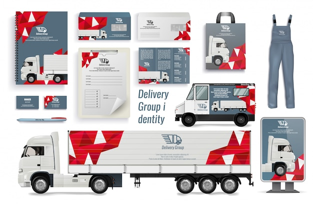 Delivery group identity, branding  form.