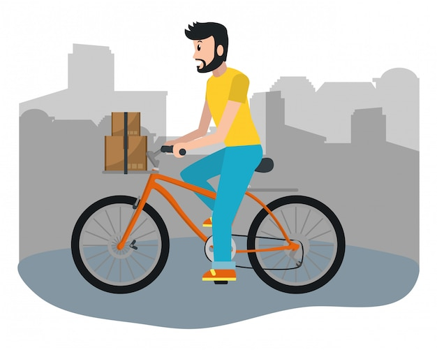Delivery guy with box