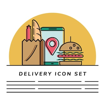 Набор иконок доставки