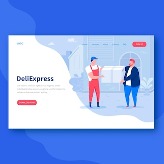 Delivery landing page header