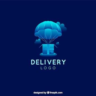 Шаблон логотипа доставки с градиентным эффектом