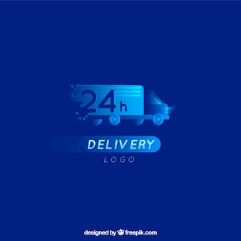Delivery logo template with truck