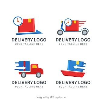 Коллекция логотипов доставки для компаний