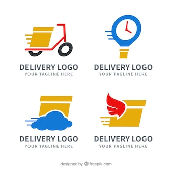 Delivery logos collection for companies