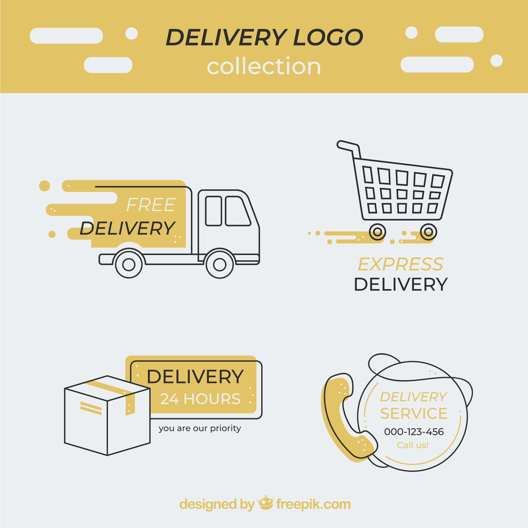 Delivery logotype collection