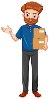 Delivery man wearing uniform