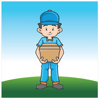 Delivery mascot illustration