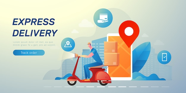 Delivery messenger banner