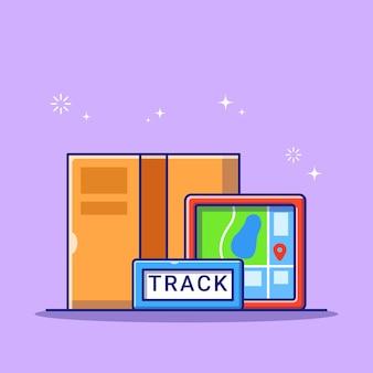 상품 및지도로 배송 온라인 추적