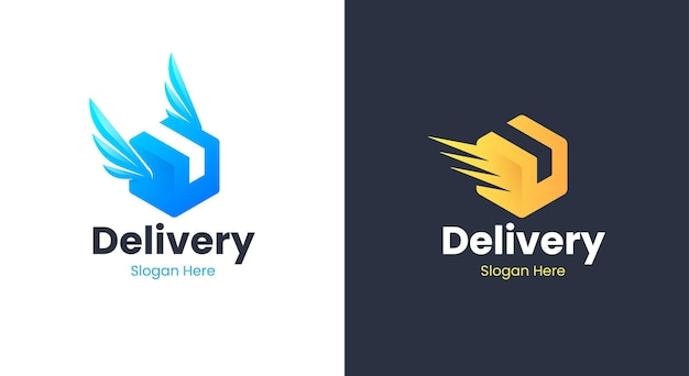 Delivery package box logo design