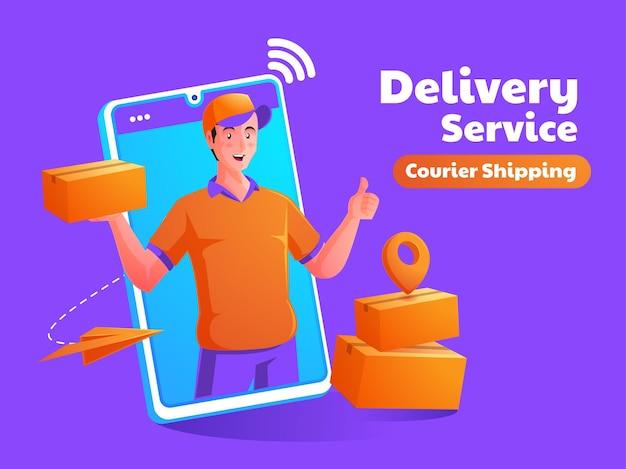 Услуга доставки пакета с мобильного телефона