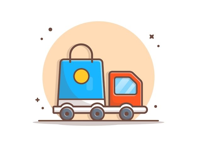 Delivery package vector clipart illustration