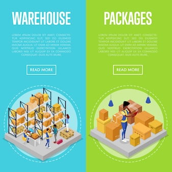 Delivery packing and warehouse management set