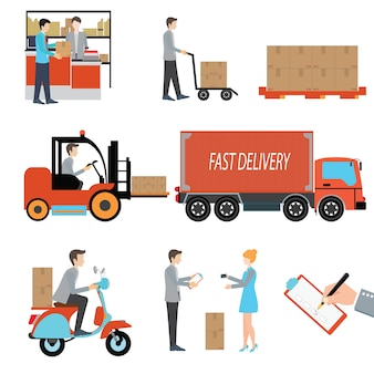 Delivery person freight logistic business industry