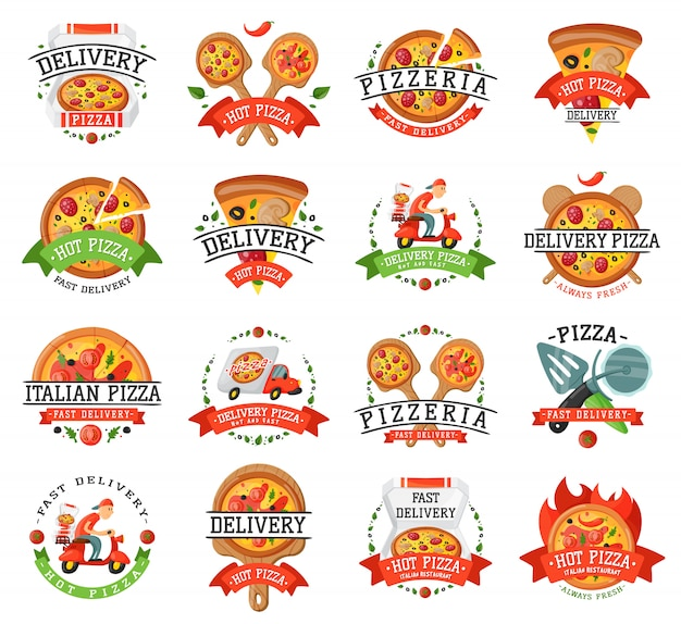 Delivery pizza badge