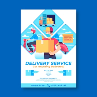 Delivery poster template