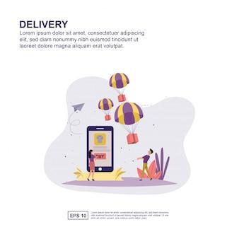 Delivery  presentation, social media promotion, banner