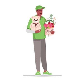 Delivery semi flat color illustration