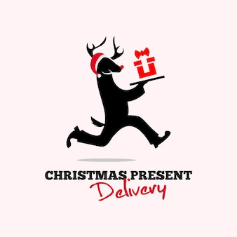 Delivery service christmas gift holiday present