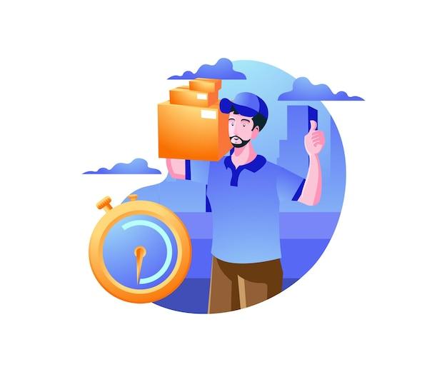 配達サービス、配達宅配便はパッケージを送ります